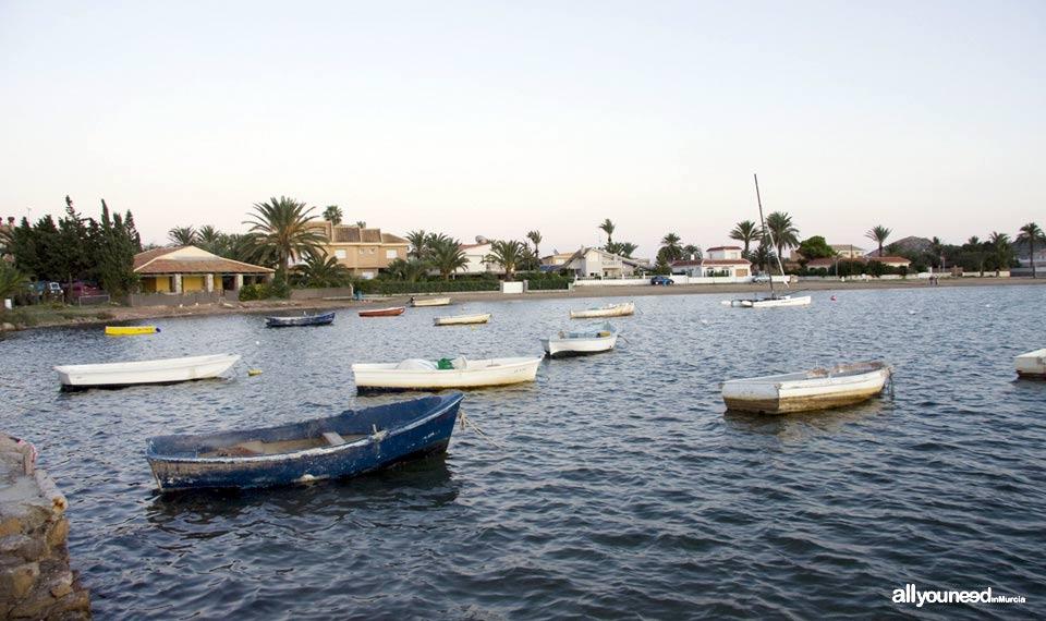 Playa de los Narejos. Barcos. Los Alcázares