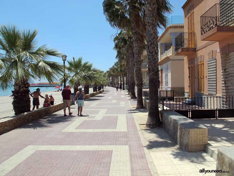 Paseo playa Manzanares en los Alcázares