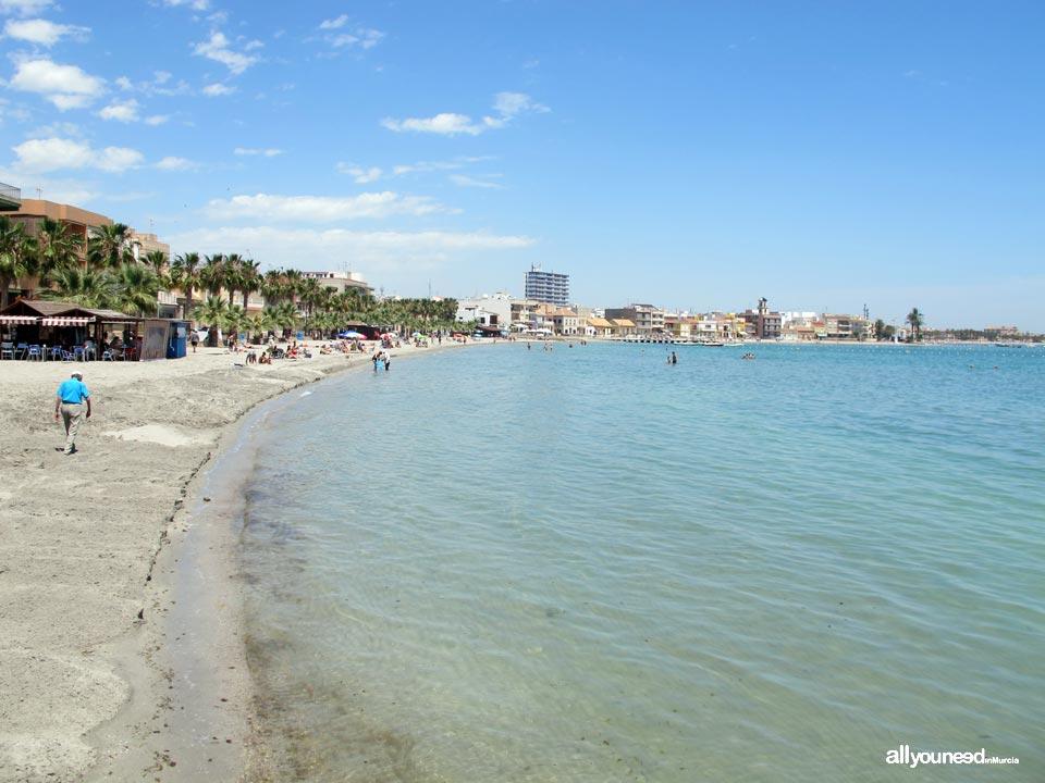 Playa Manzanares en los Alcázares