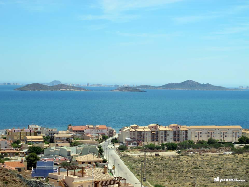 Isla Perdiguera e Isla del Barón en el Mar Menor