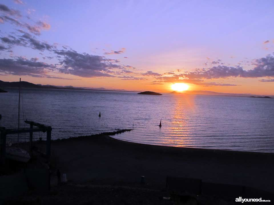 Rondella Island in Mar Menor