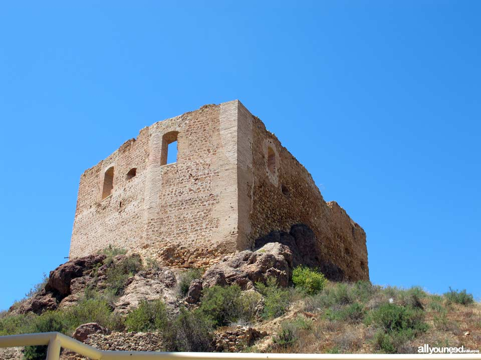 Vélez Castle in Mazarrón. Castles of Murcia