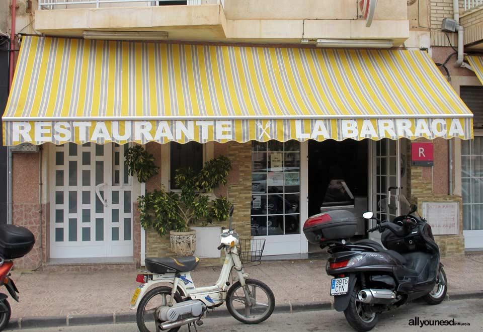 Restaurante La Barraca. Puerto de Mazarrón