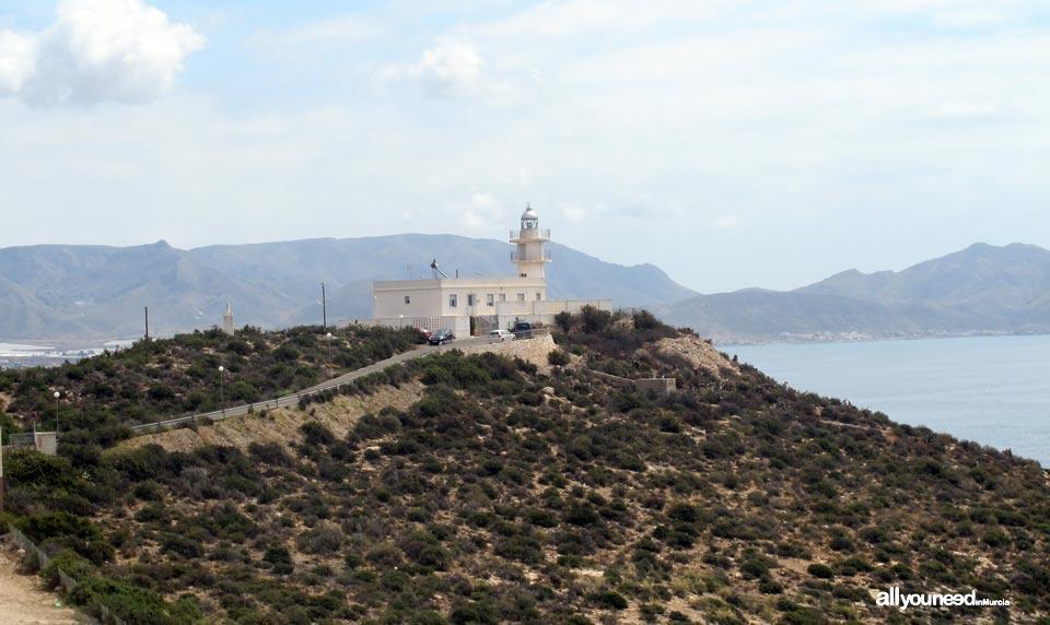 Faro en el Puerto de Mazarrón