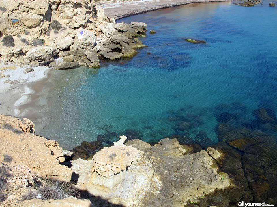 Cala Desnuda. Playa nudista en Mazarrón