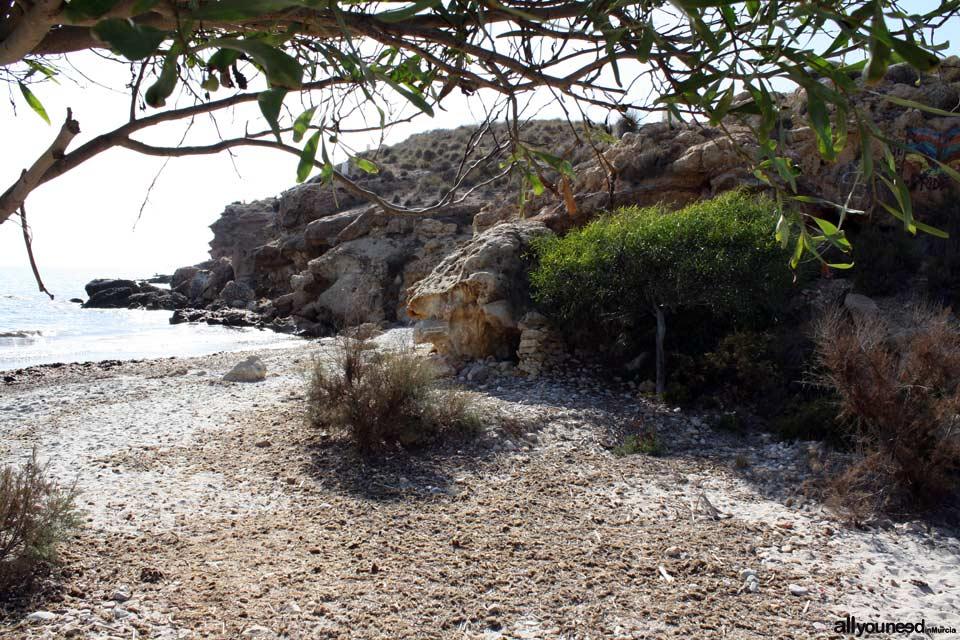 Cala Leño. Playas nudista en Mazarrón