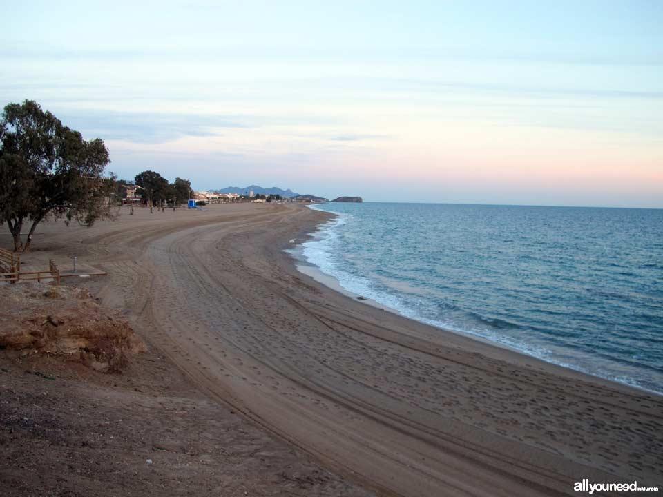 Playa de Bolnuevo. Playas de Mazarrón