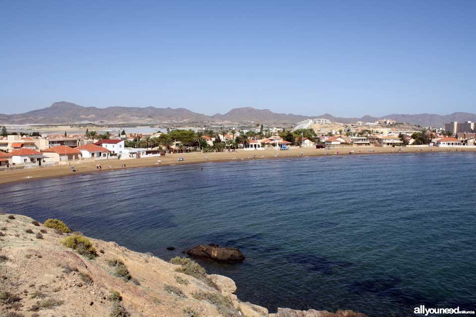 Playa Junta de los Mares, playa de la Reya
