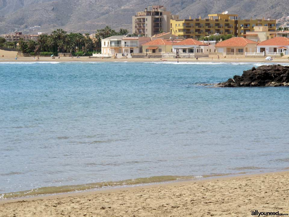 Playa la Bahía. Playas de Mazarrón