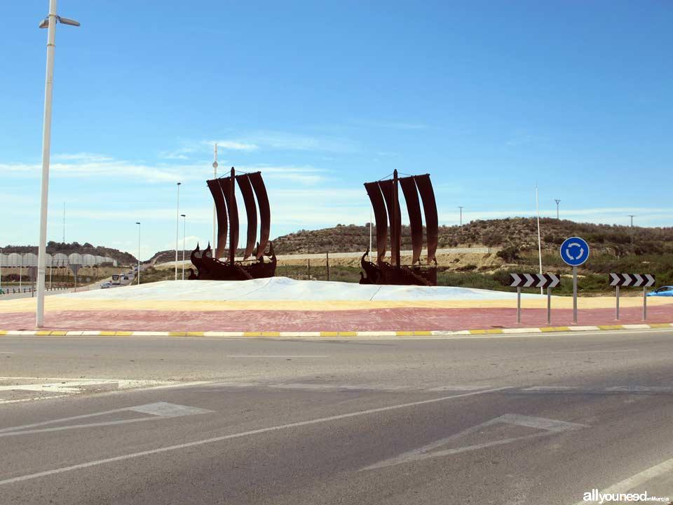 Rotonda entrada al Puerto de Mazarrón