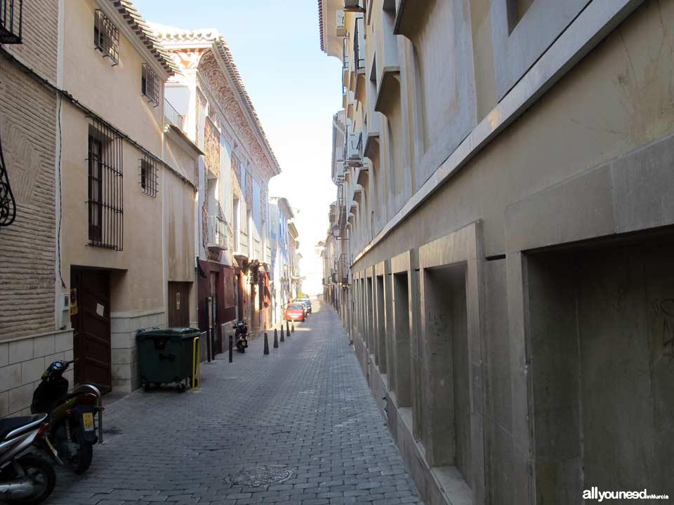 Calle de san Francisco. Casa Pintada de Mula