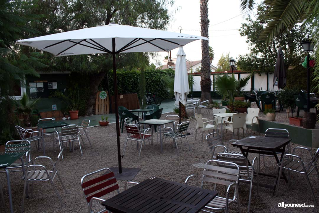 hostel la casa verde en murcia terraza bar all you