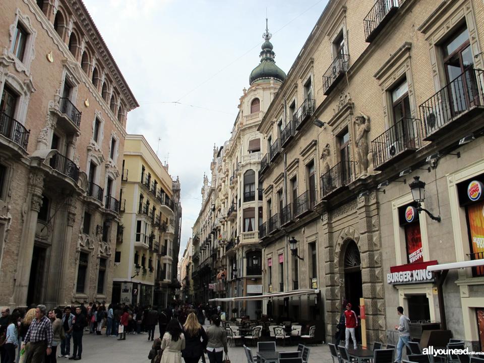 Calle Trapería in Murcia