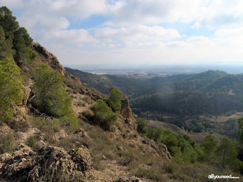 Sendero Pico del Águila. PR-MU55. Senderismo por el Majal Blanco en Murcia