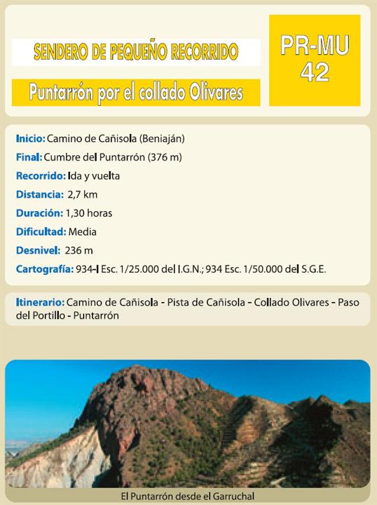 Puntarrón por el Collado Olivares. PR-MU42