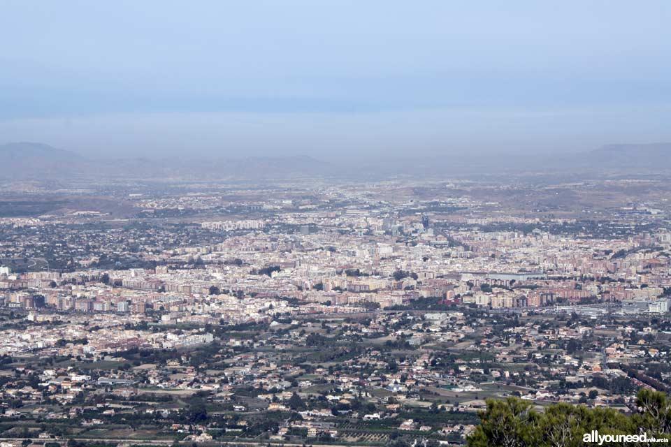 La Cresta del Gallo. Pico de la Panocha. Panorámica de Murcia