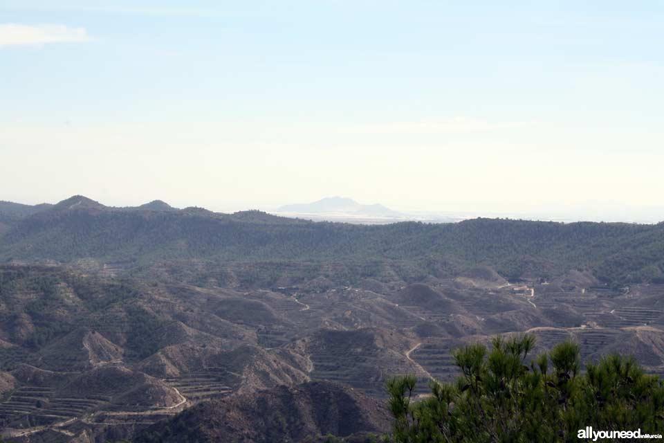 Parque Regional El Valle y Carrascoy. Al fondo El Cabezo Gordo
