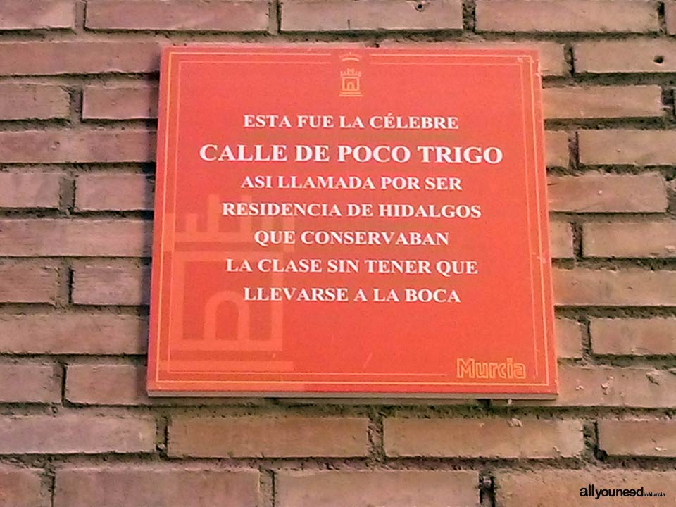 Calle Santa Isabel. Cool stuff in Murcia. Metal Plates Describing Historical Events