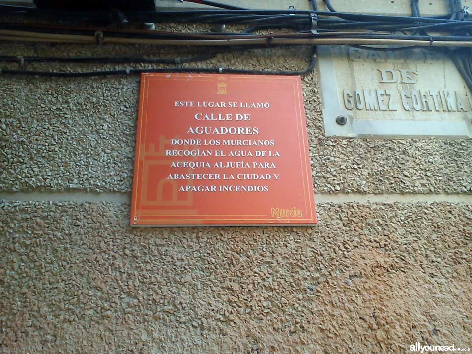 Calle Gómez Cortina. Cool stuff in Murcia. Metal Plates Describing Historical Events