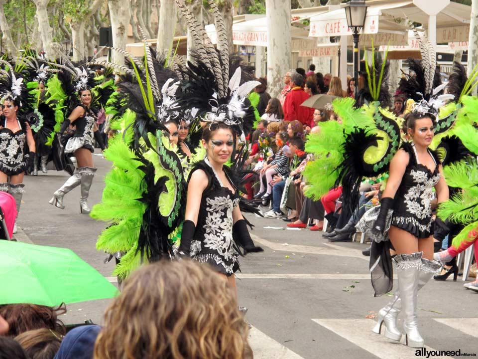 Murcia en Primavera. Batalla de Las Flores. Desfile