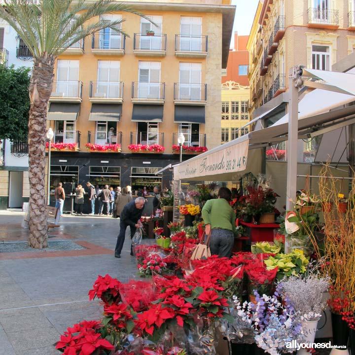 Plaza de las Flores en Murcia