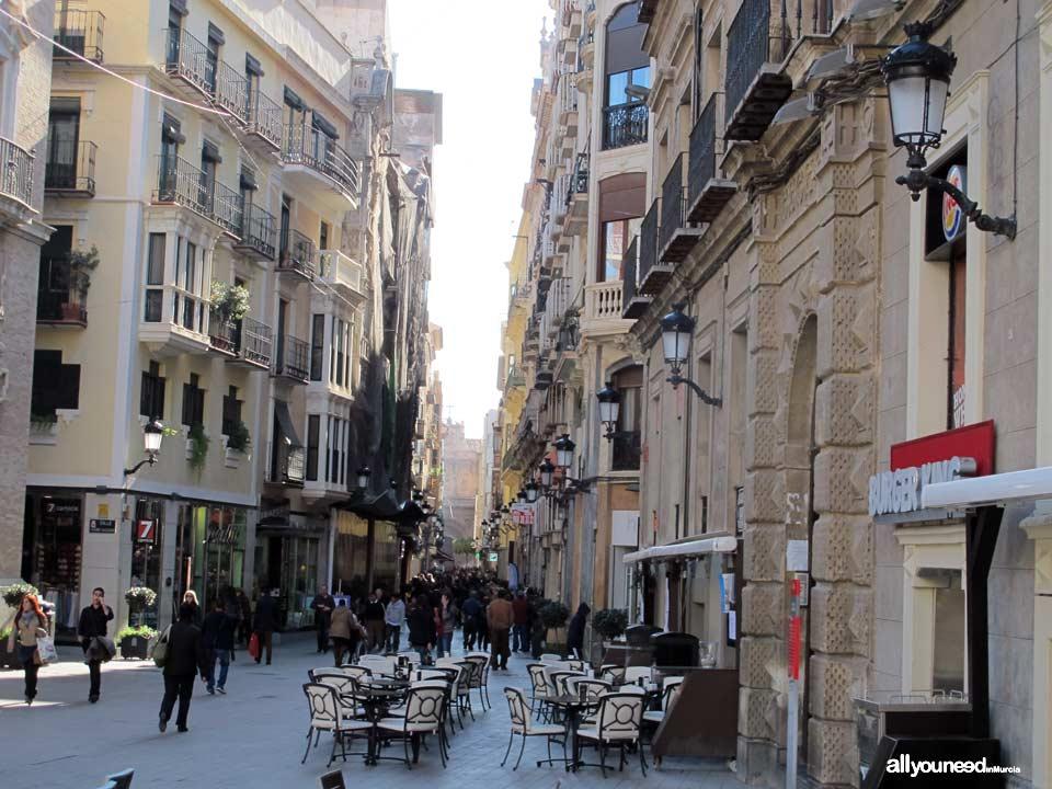 Streets in Murcia. Calle Trapería