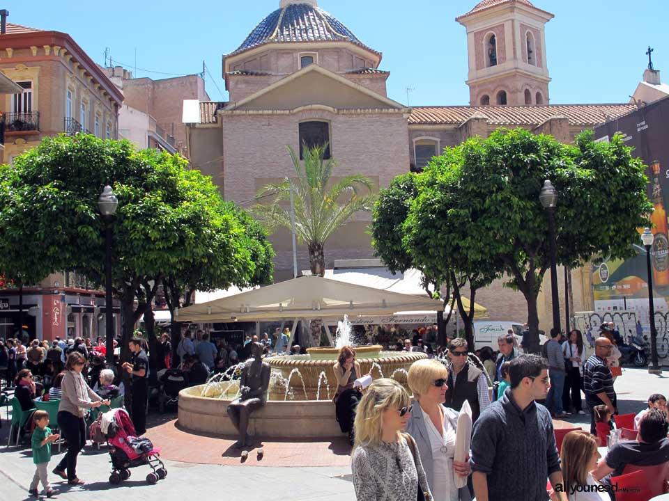 Streets in Murcia. Plaza de las Flores