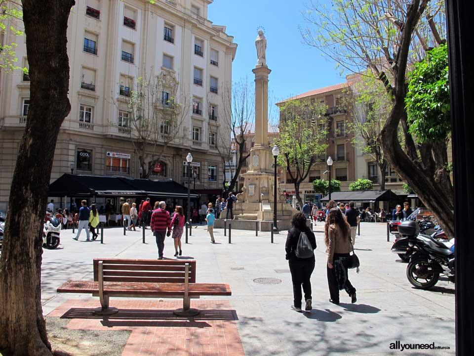 Calles de Murcia. Plaza de Santa Catalina