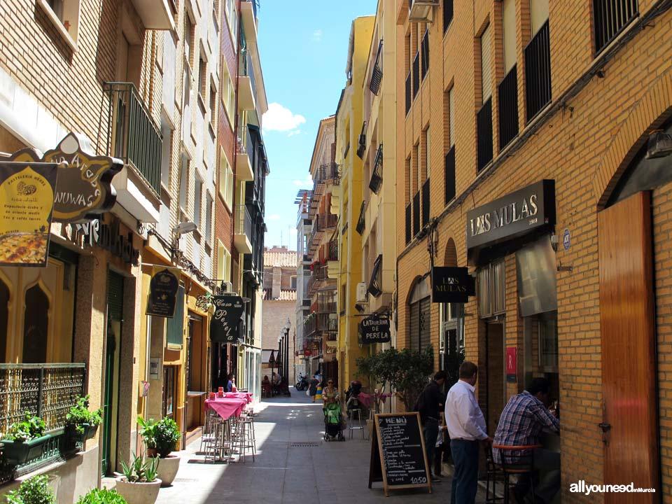 Streets in Murcia. Calle Ruipérez