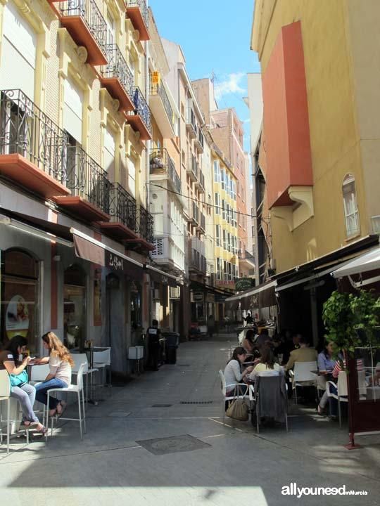 Streets in Murcia. Calle Arzobispo Simón López