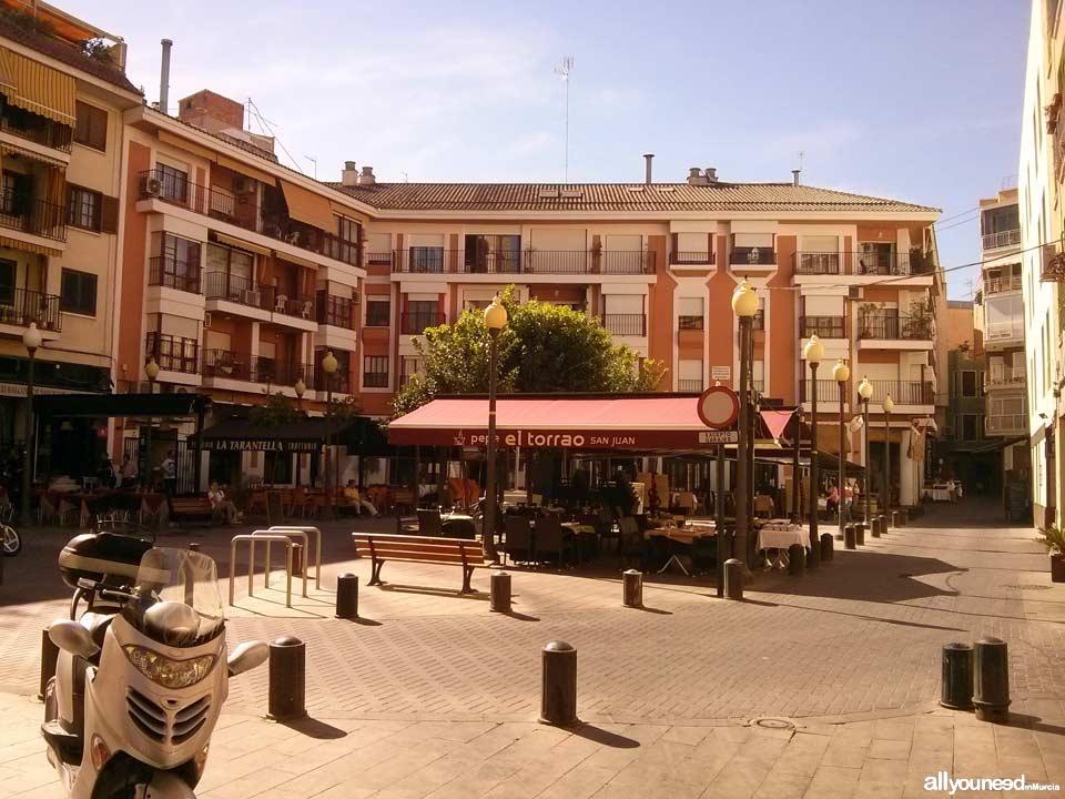 Streets in Murcia. Plaza de San Juan