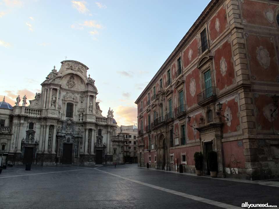 Streets in Murcia. Plaza del Cardenal Belluga