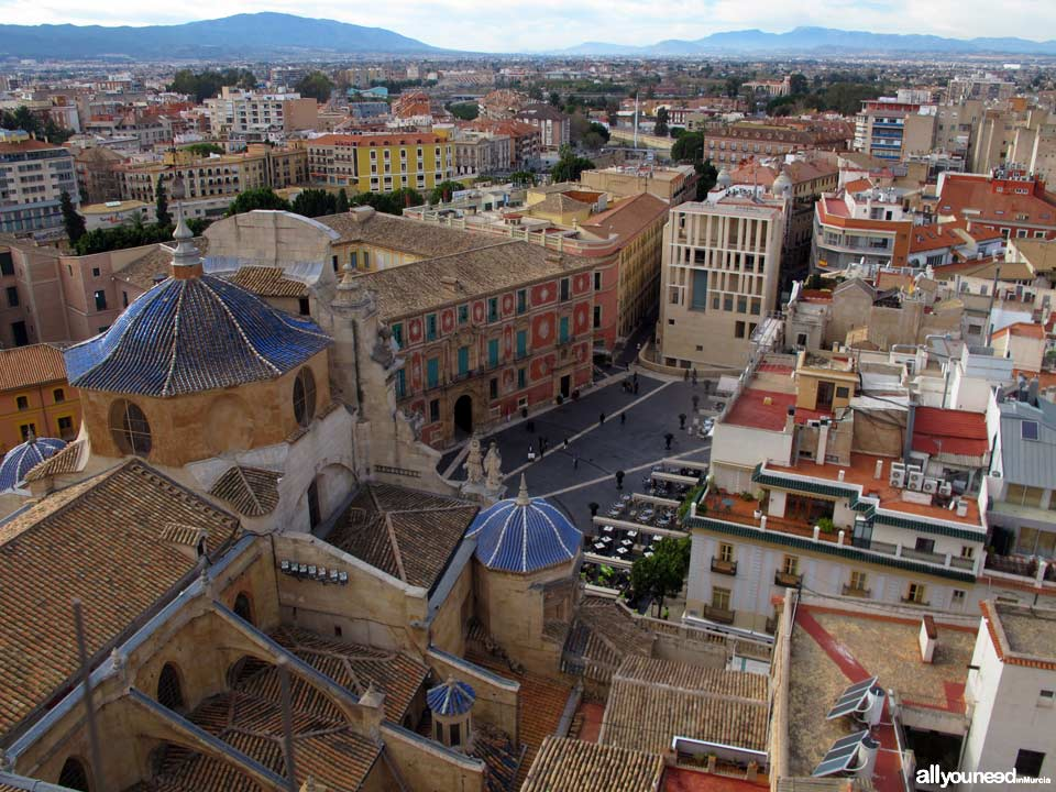 Views from the Murcia Cathedral Tower. Pza Cardenal Belluga