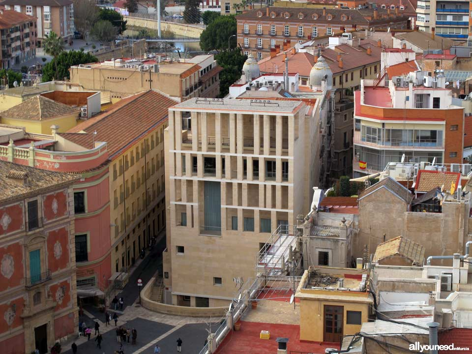 Views from the Murcia Cathedral Tower. Moneo Building