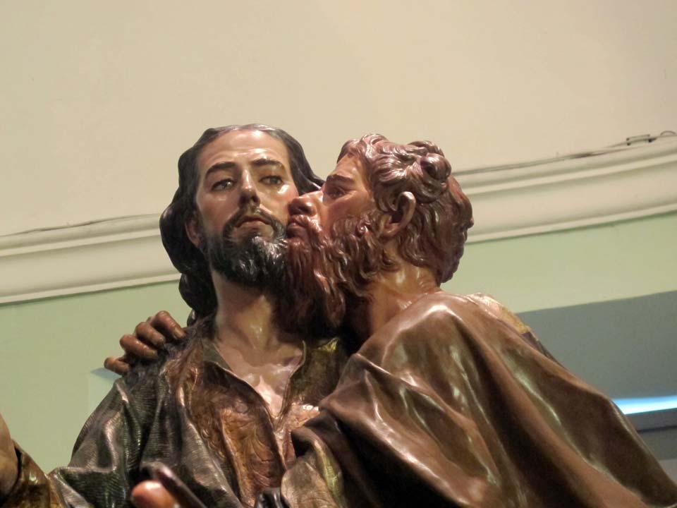 Museo Salzillo en Murcia. Iglesia de Nuestro Padre Jesús. El Prendimiento