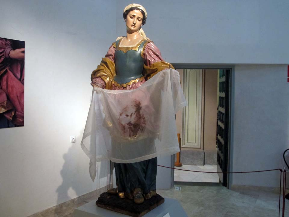 Salzillo Museum in Murcia. Church of Our Father Jesus. Veronica, Holy Woman