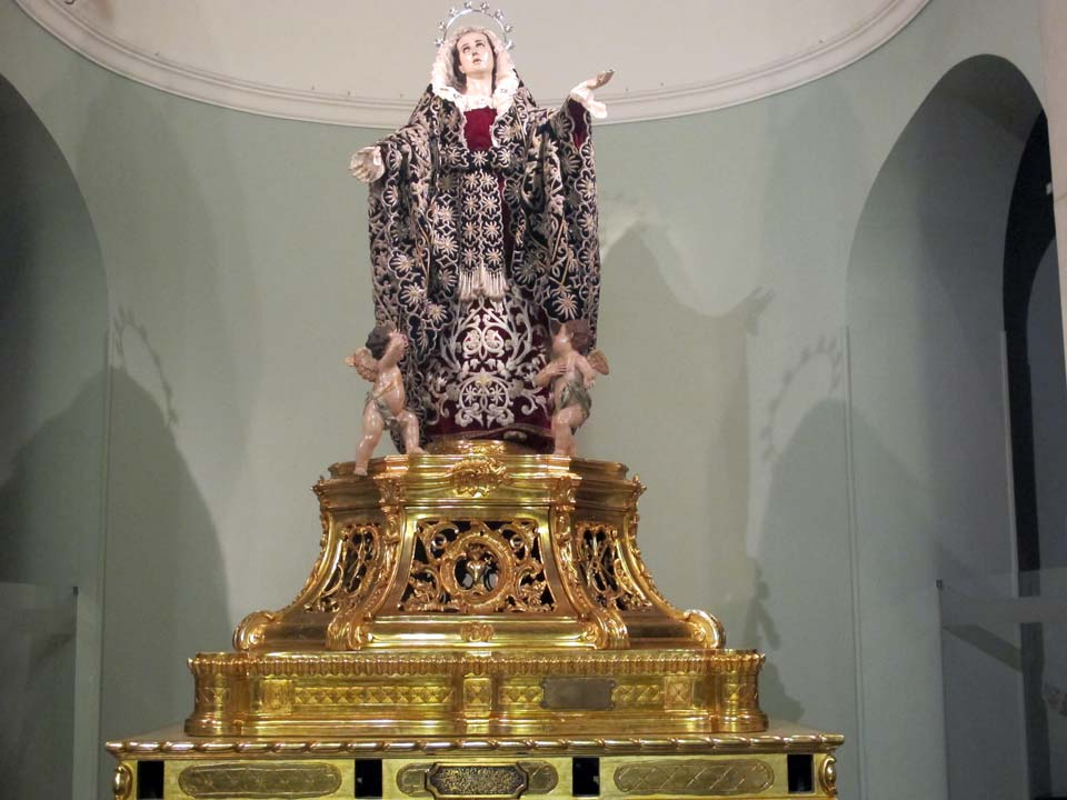 Salzillo Museum in Murcia. Church of Our Father Jesus. The Painfull Virgin