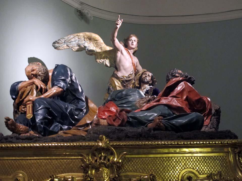 Museo Salzillo en Murcia. Iglesia de Nuestro Padre Jesús. Oración en el Huerto
