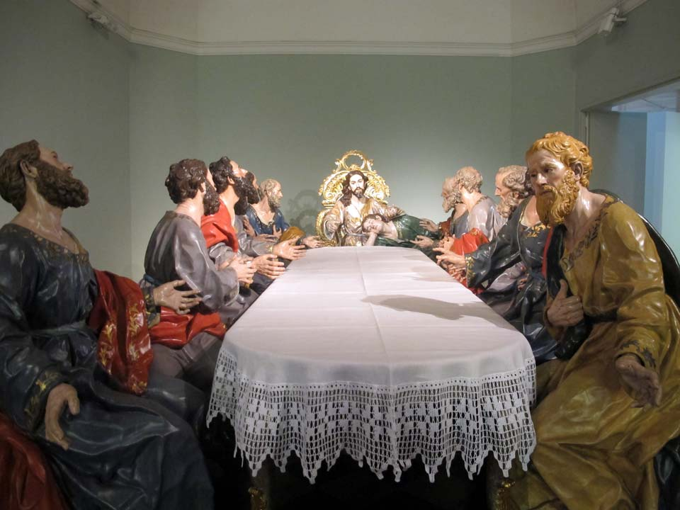Salzillo Museum in Murcia. Church of Our Father Jesus. The Last Supper
