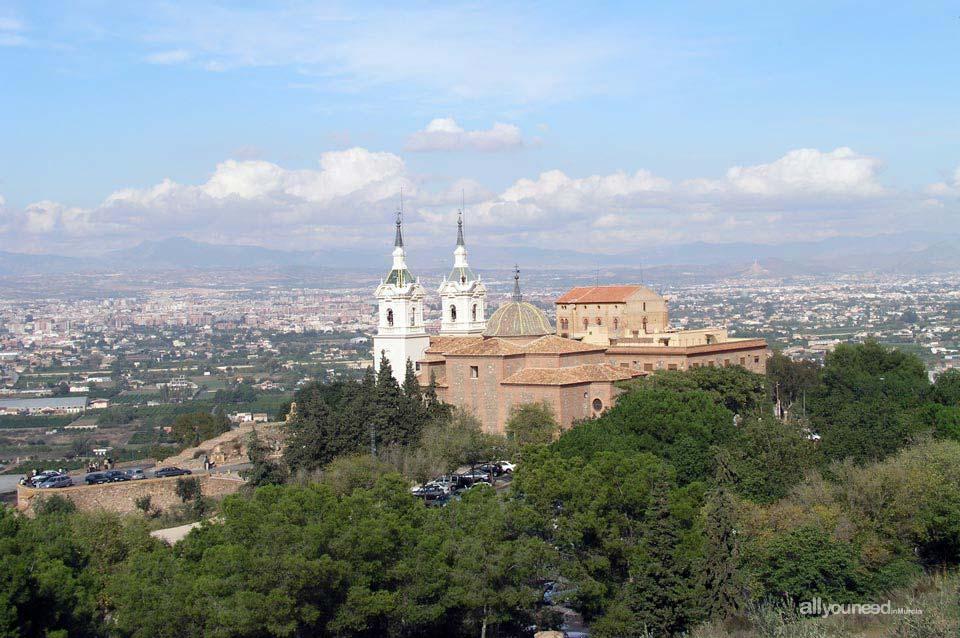 Santuario de la Fuensanta en el Valle de Murcia