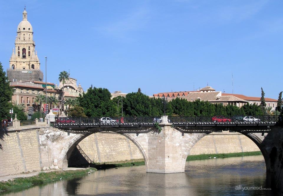Río Segura, Puente de los Peligros y Catedral de Murcia