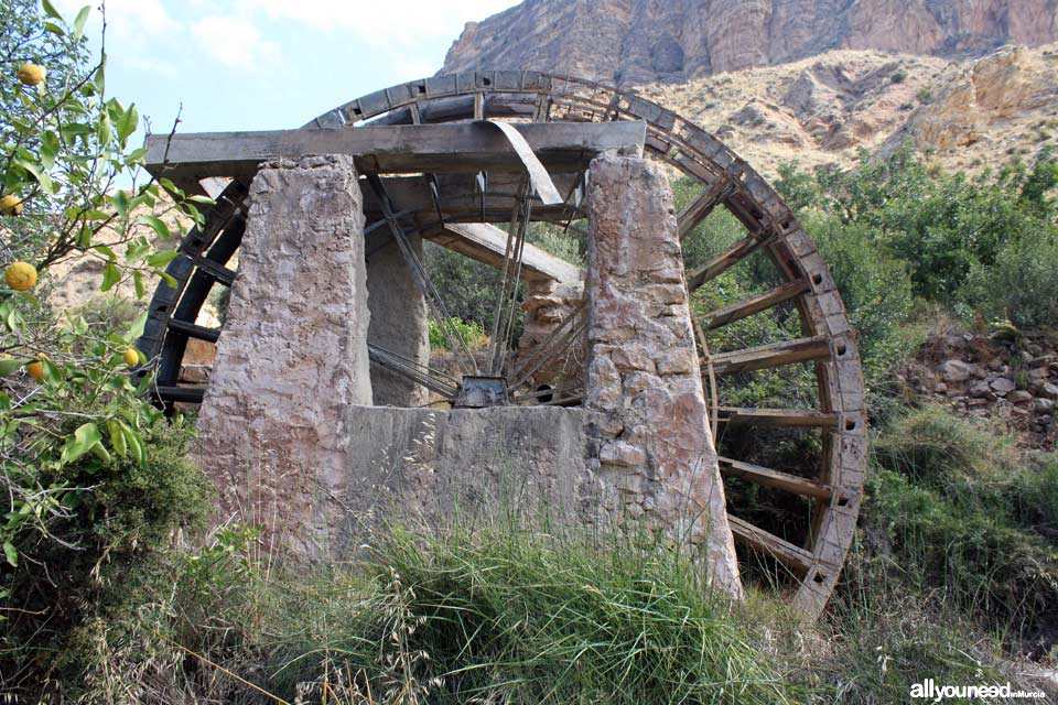 Ribera Waterwheel in Ojós. Spain