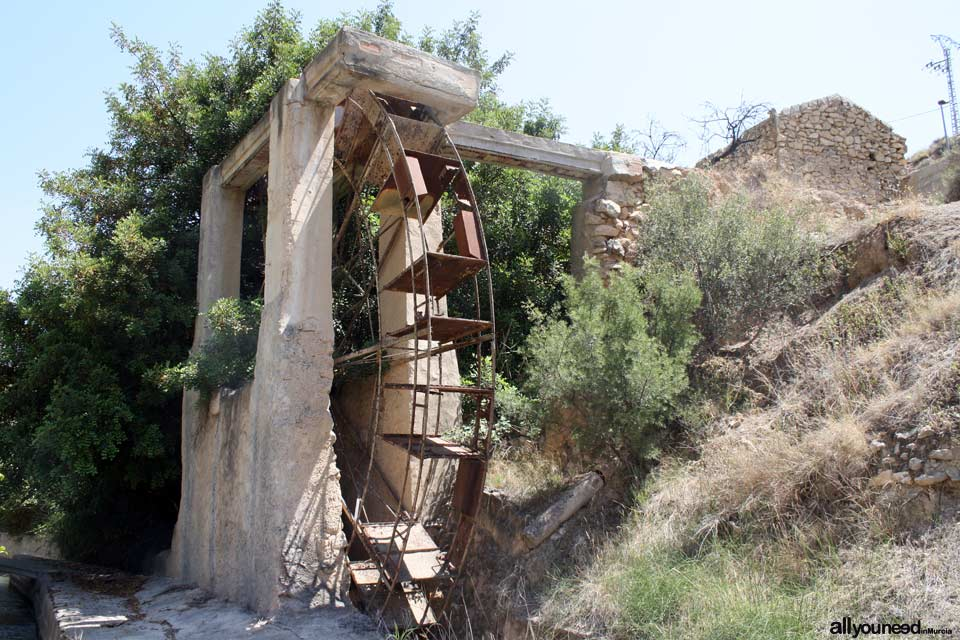 Olivar Waterwheel in Ojós. Spain