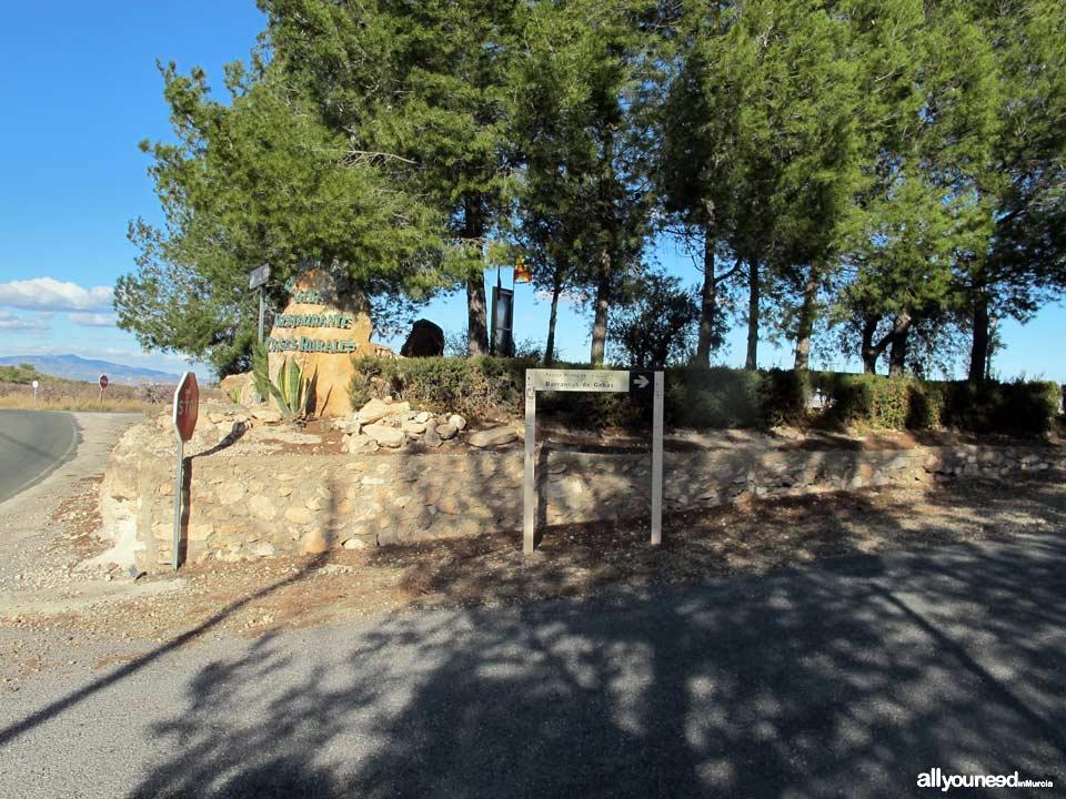 Barrancos de Gebas. Turn-off to Gebas Gullies