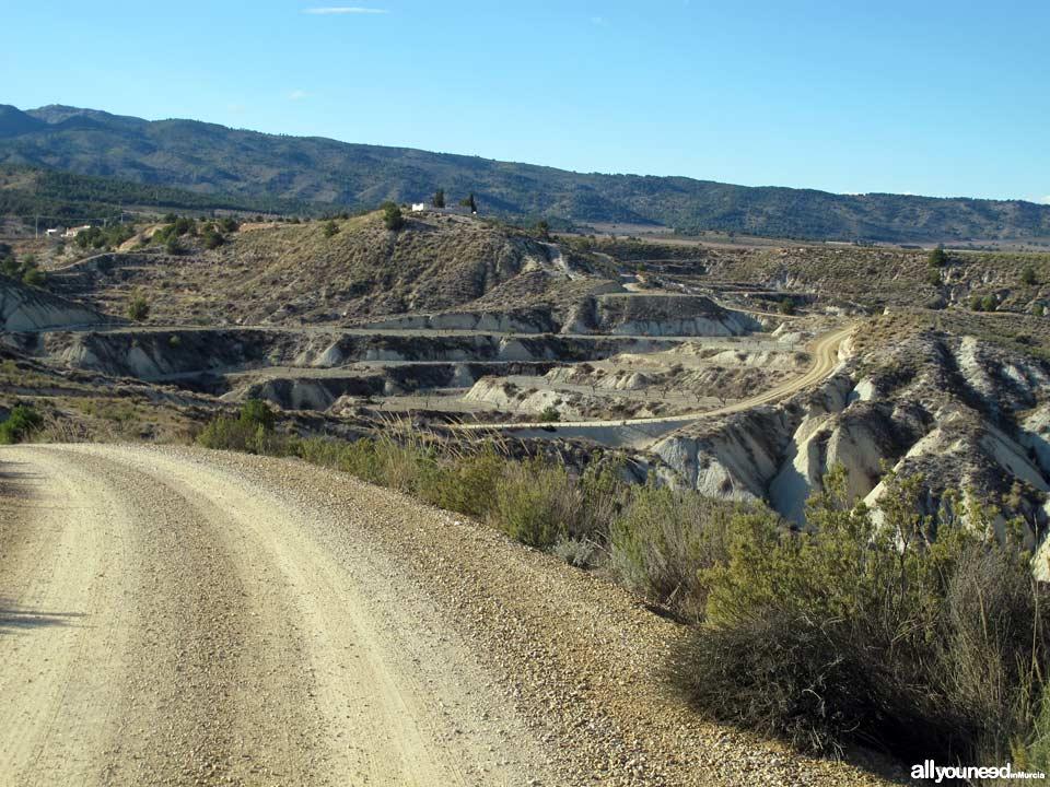 Barrancos de Gebas. Carretera de tierra