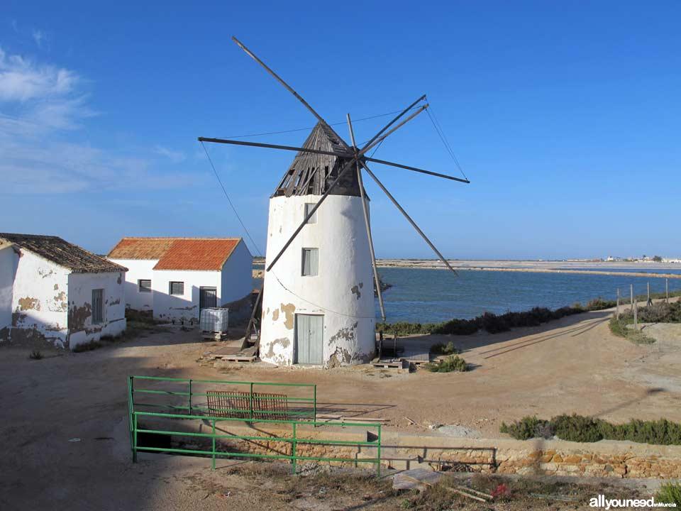 Molino de Quintín en la playa de la Mota. San Pedro del Pinatar
