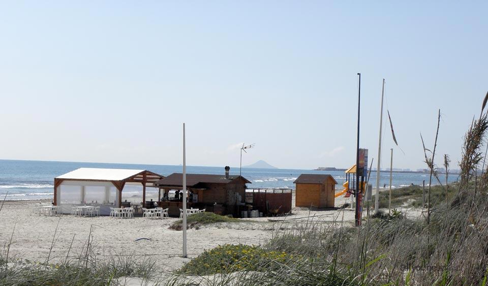 Playa de El Mojón en San Pedro del Pinatar