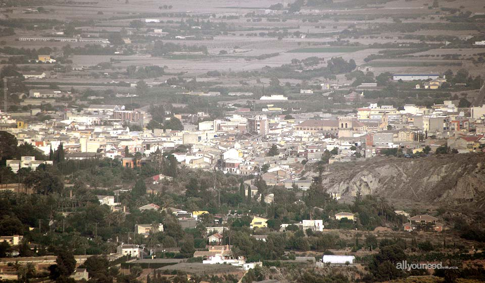 Panoramic view of Totana from Aledo