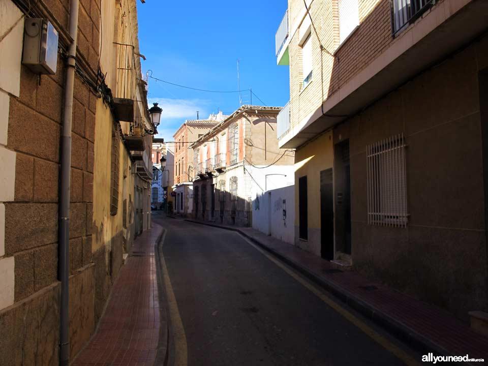 Calle Antonio Garrigues en Totana