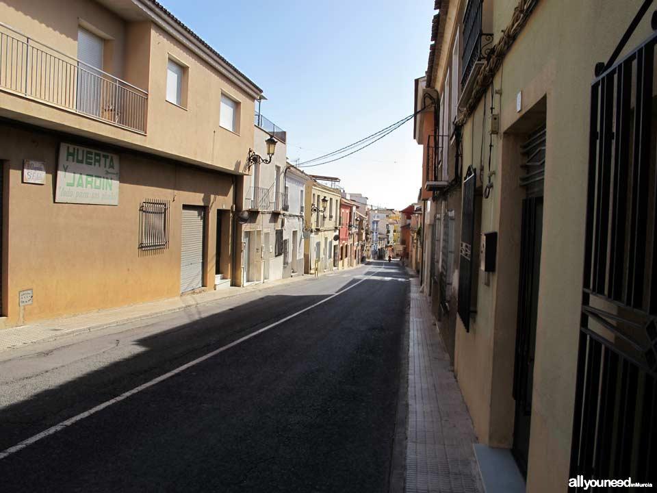 Calle Santa Eulalia en Totana
